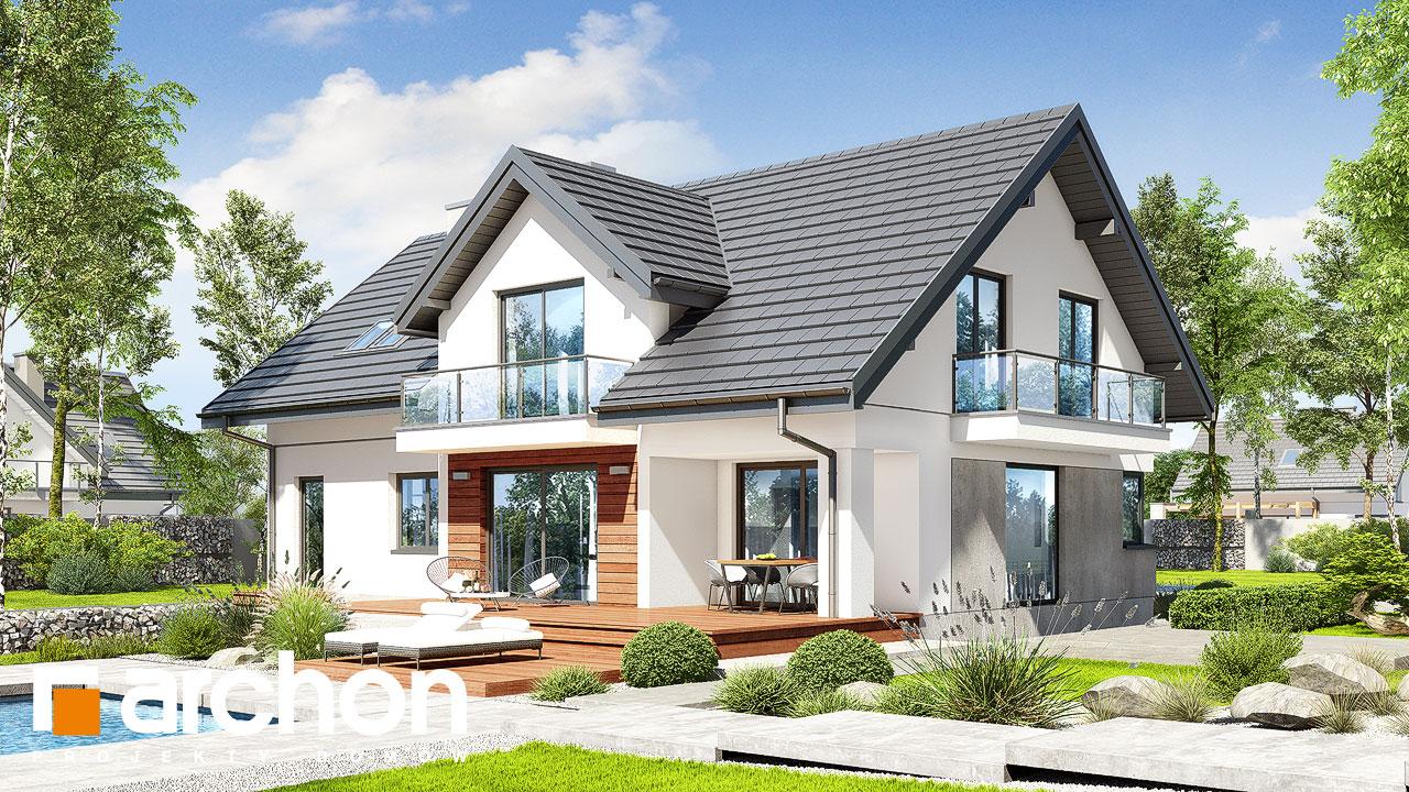 Проект будинку ARCHON+ Будинок в кортландах 4 (Г2) Вид 2