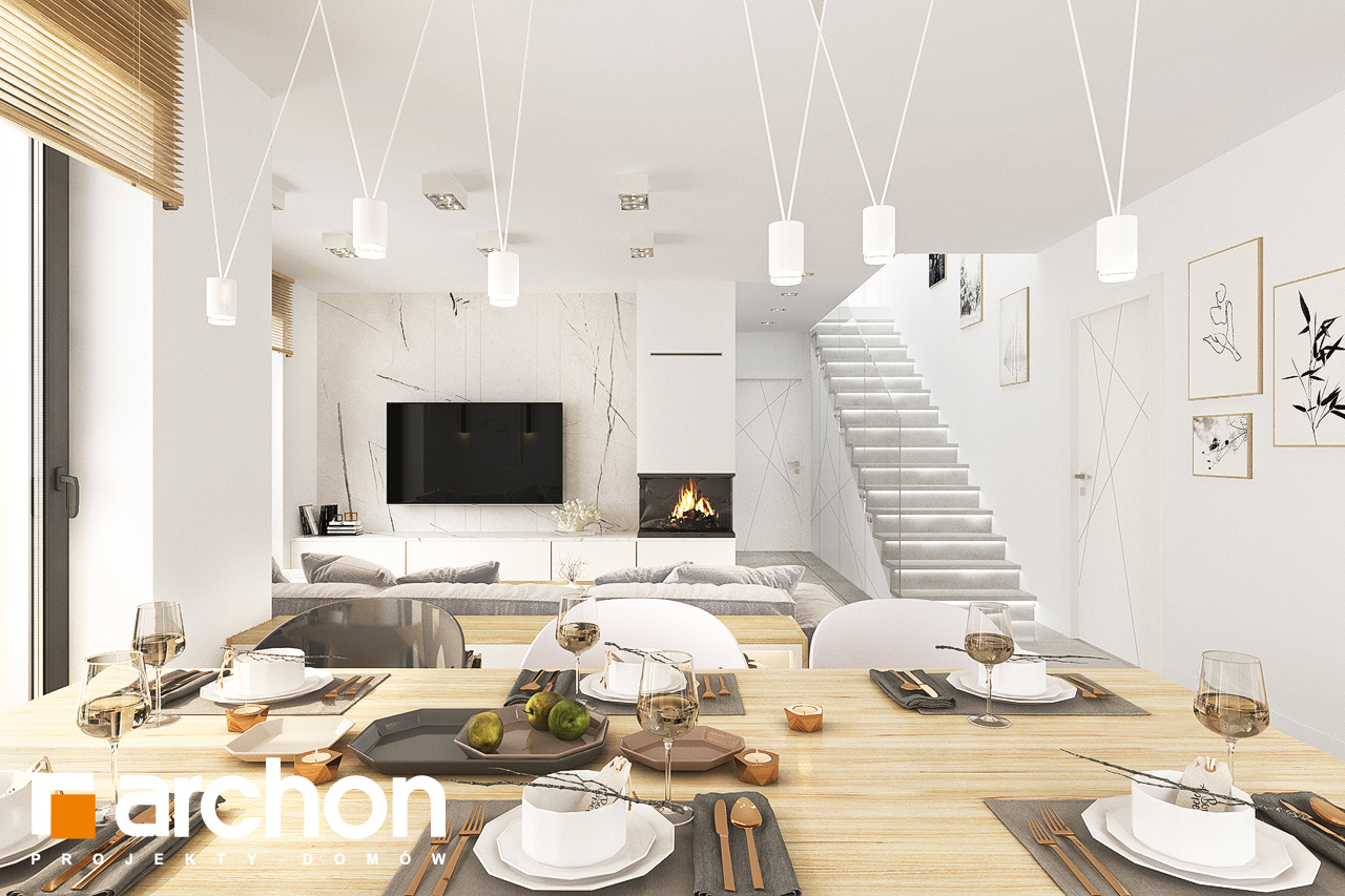 Проект будинку ARCHON+ Будинок в кортландах 4 (Г2) денна зона (візуалізація 1 від 6)