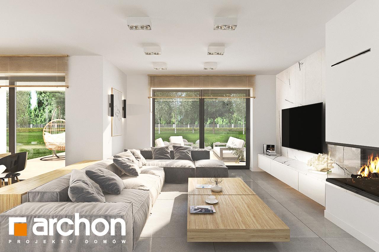 Проект дома ARCHON+ Дом в кортландах 4 (Г2) дневная зона (визуализация 1 вид 1)