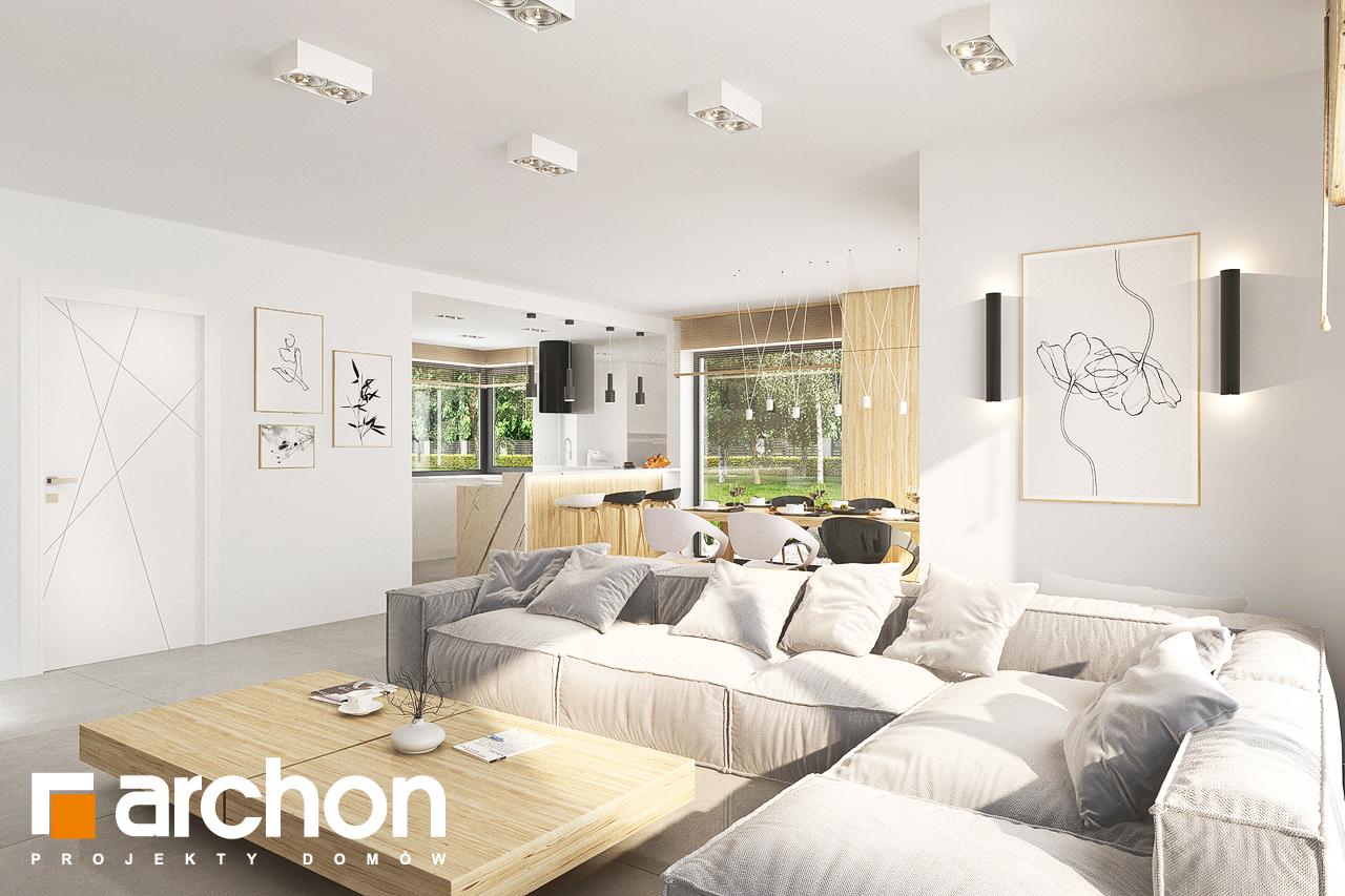 Проект дома ARCHON+ Дом в кортландах 4 (Г2) дневная зона (визуализация 1 вид 2)