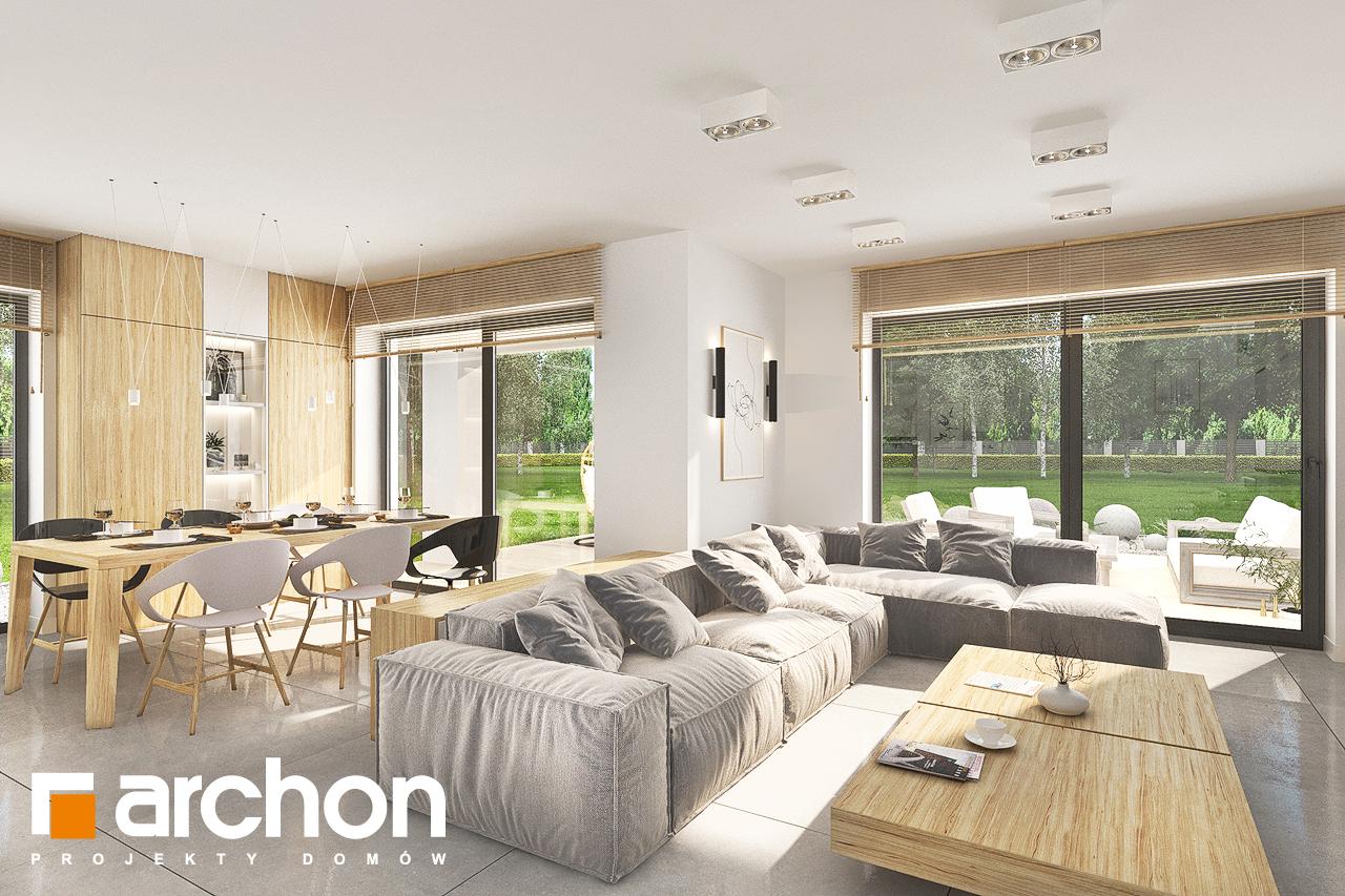 Проект дома ARCHON+ Дом в кортландах 4 (Г2) дневная зона (визуализация 1 вид 3)