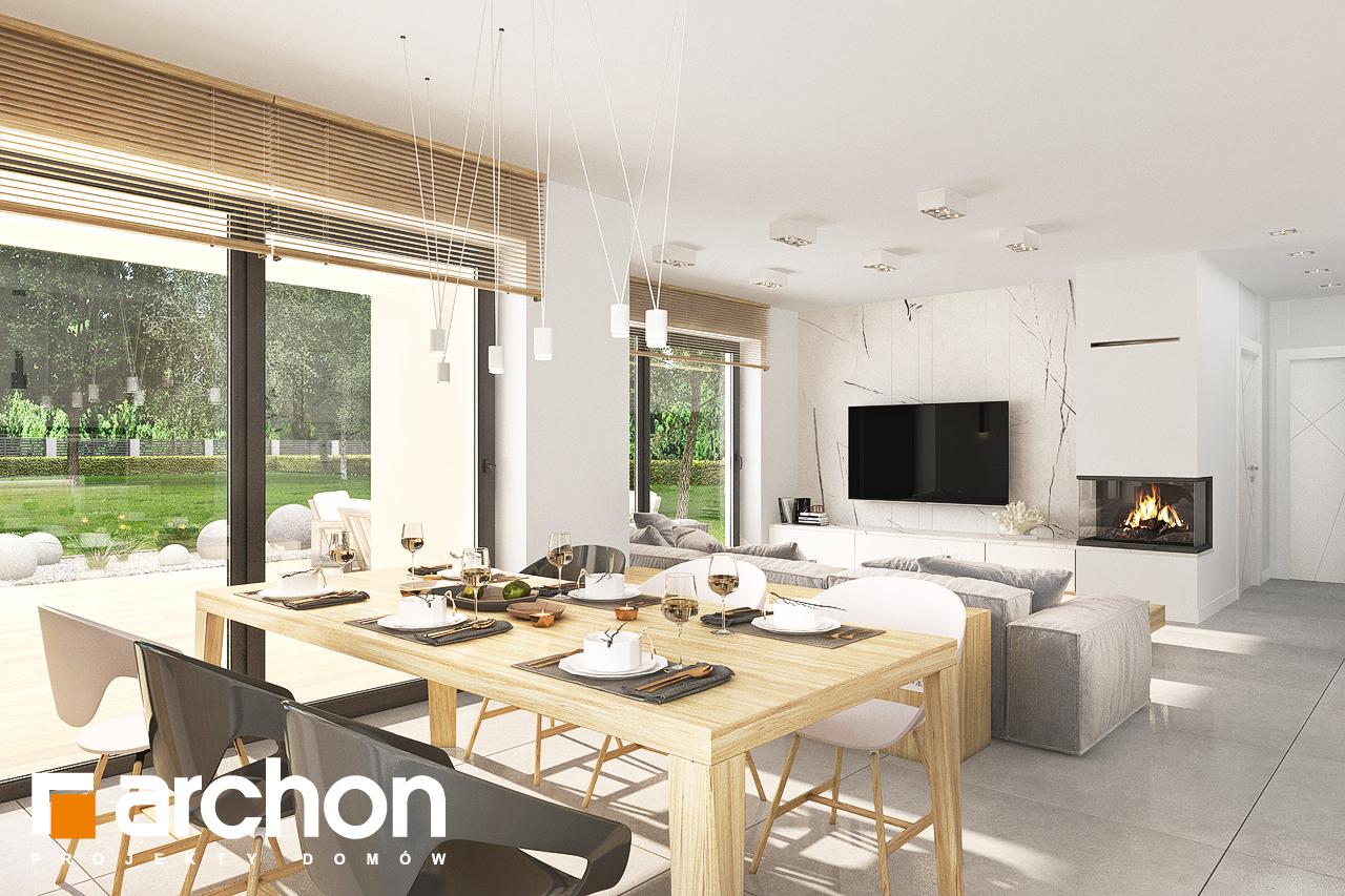 Проект дома ARCHON+ Дом в кортландах 4 (Г2) дневная зона (визуализация 1 вид 5)