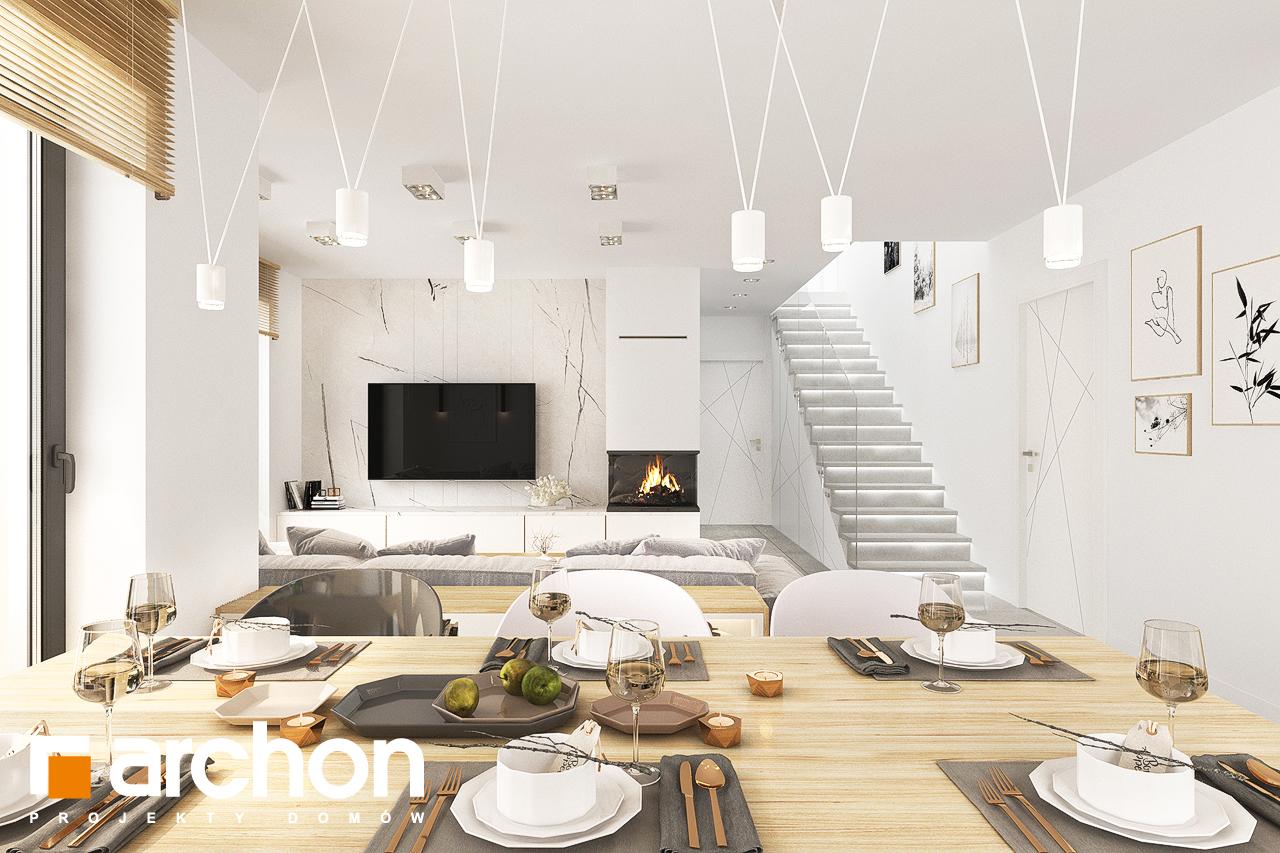 Проект дома ARCHON+ Дом в кортландах 4 (Г2) дневная зона (визуализация 1 вид 6)