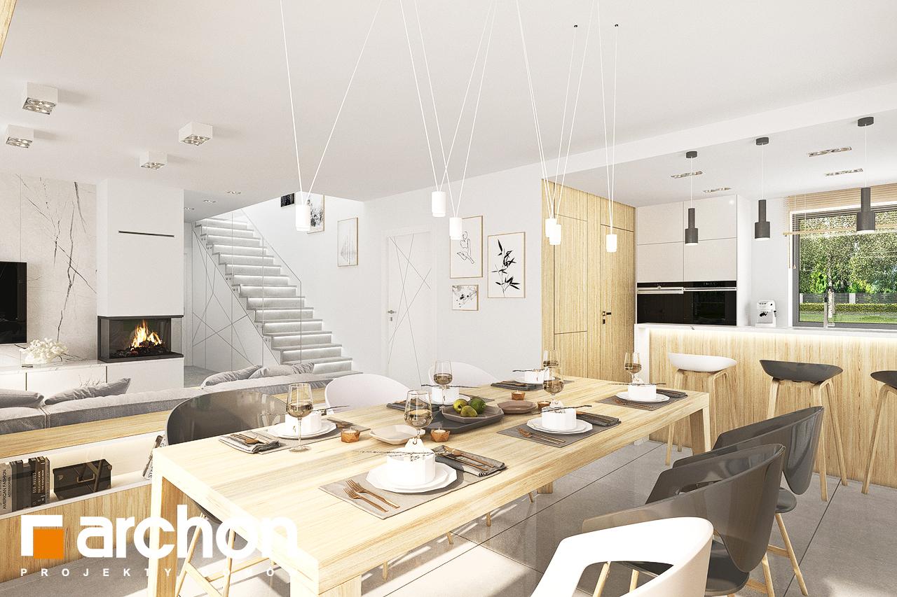 Проект дома ARCHON+ Дом в кортландах 4 (Г2) дневная зона (визуализация 1 вид 7)