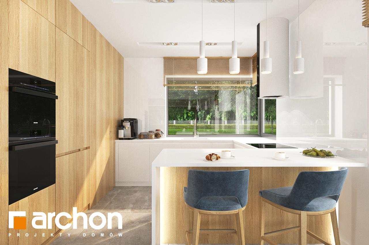 Проект будинку ARCHON+ Будинок в липниках візуалізація кухні 1 від 1