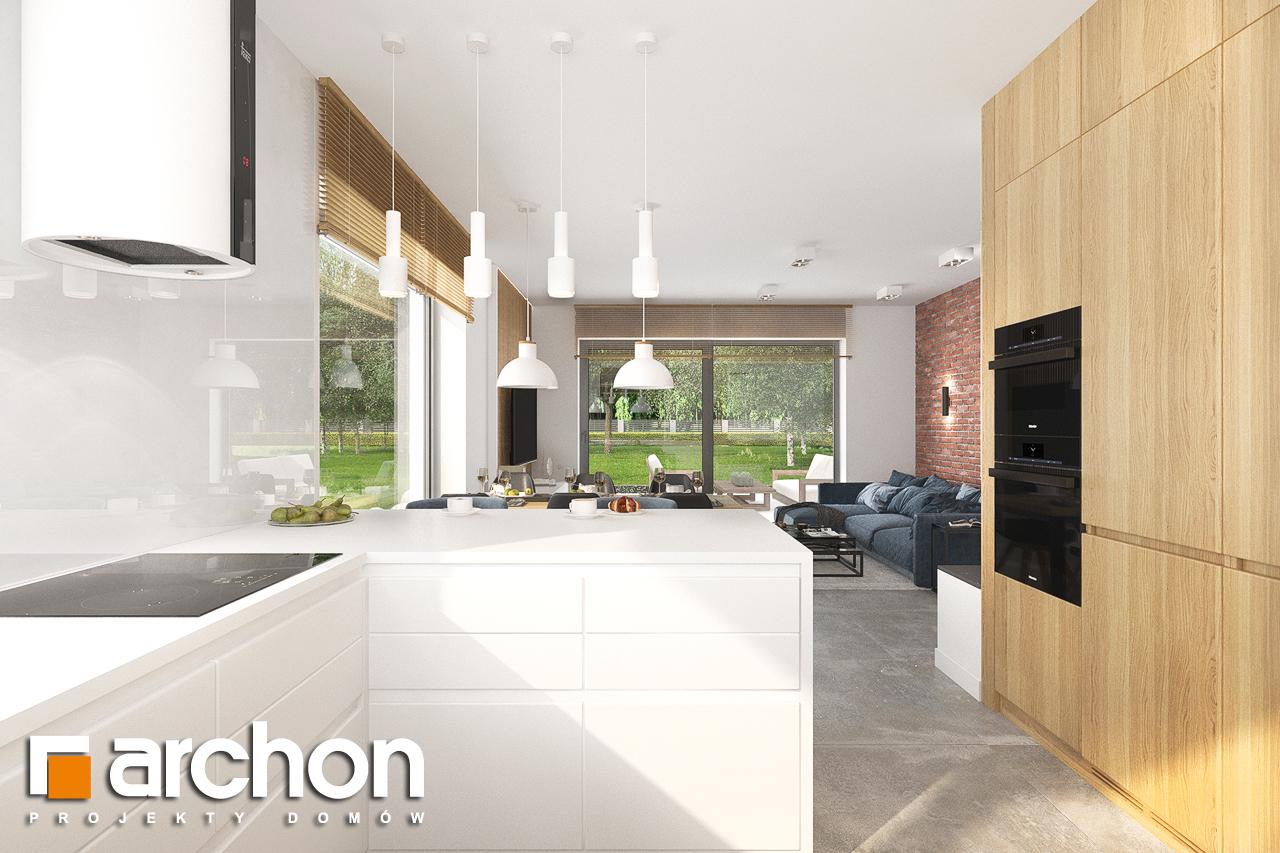 Проект будинку ARCHON+ Будинок в липниках візуалізація кухні 1 від 2