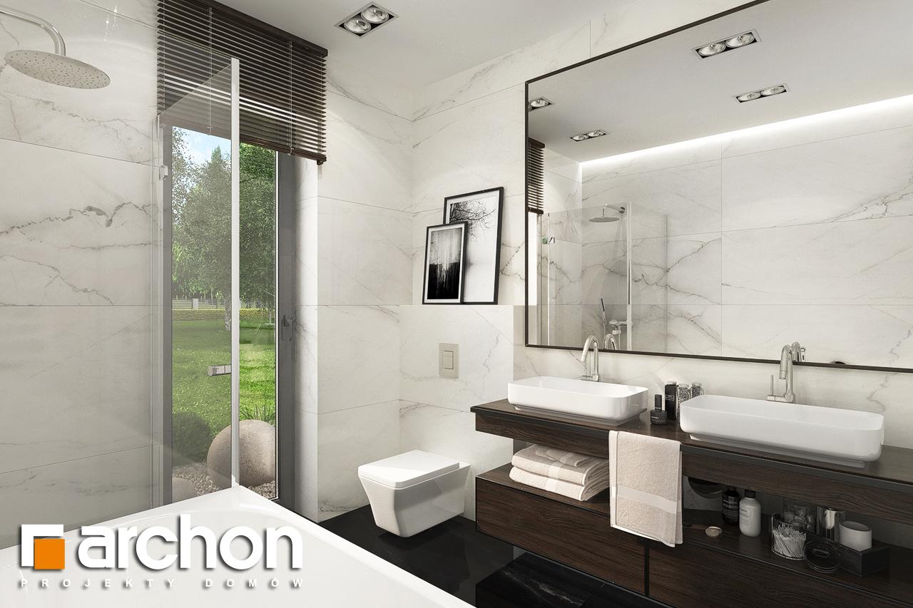 Проект будинку ARCHON+ Будинок в липниках візуалізація ванни (візуалізація 3 від 1)