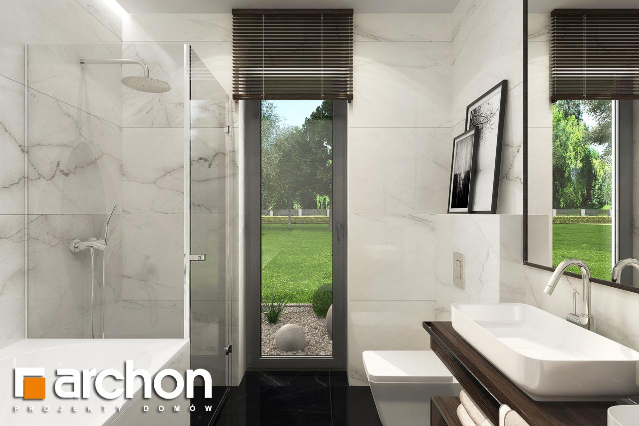 Проект будинку ARCHON+ Будинок в липниках візуалізація ванни (візуалізація 3 від 2)
