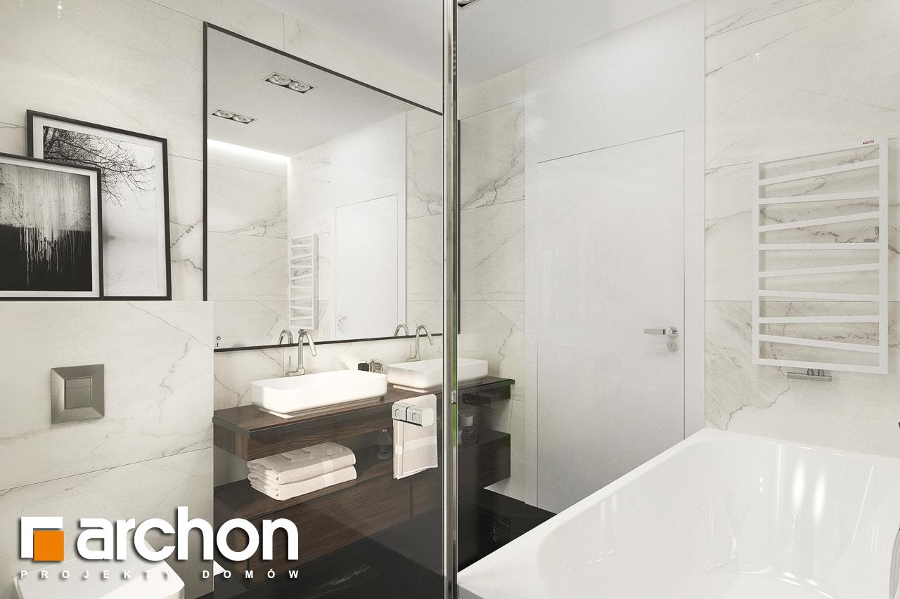 Проект будинку ARCHON+ Будинок в липниках візуалізація ванни (візуалізація 3 від 3)