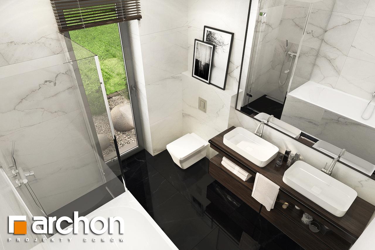 Проект будинку ARCHON+ Будинок в липниках візуалізація ванни (візуалізація 3 від 4)