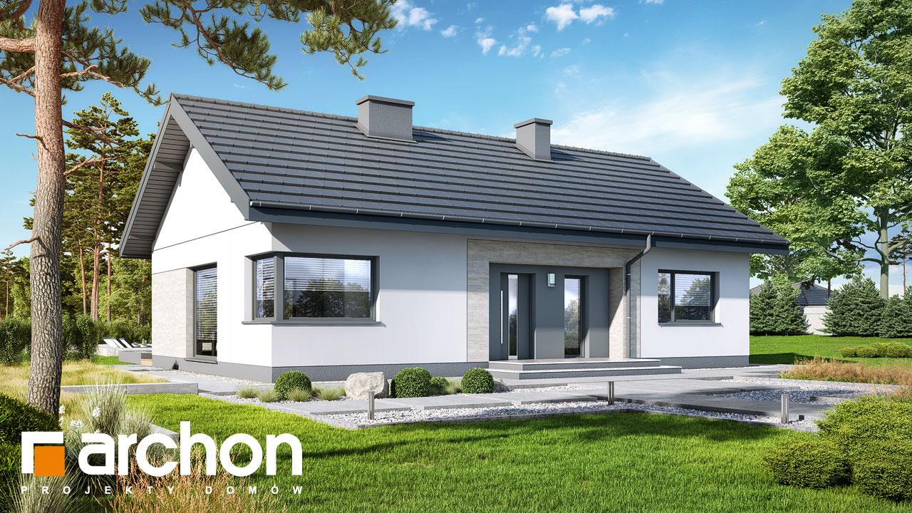 Проект будинку ARCHON+ Будинок в липниках стилізація 3