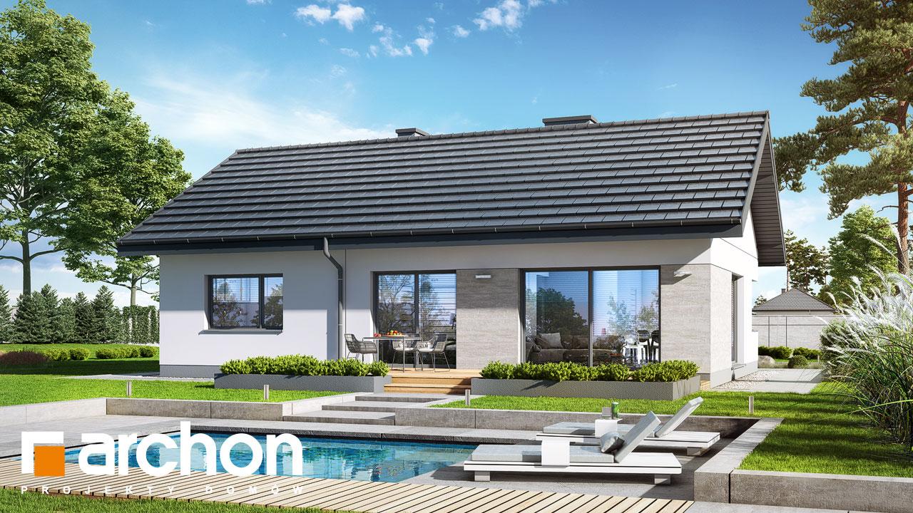 Проект будинку ARCHON+ Будинок в липниках стилізація 4