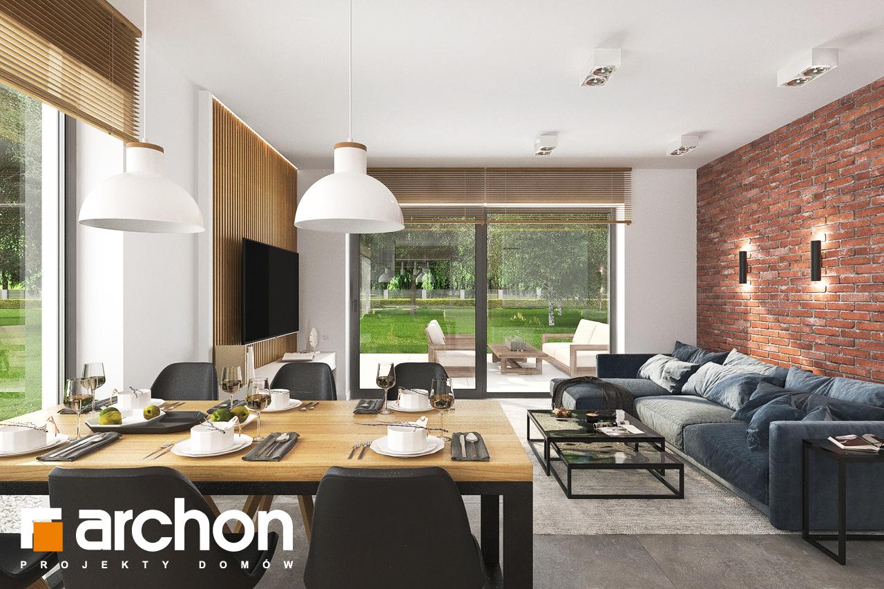Проект будинку ARCHON+ Будинок в липниках денна зона (візуалізація 1 від 1)