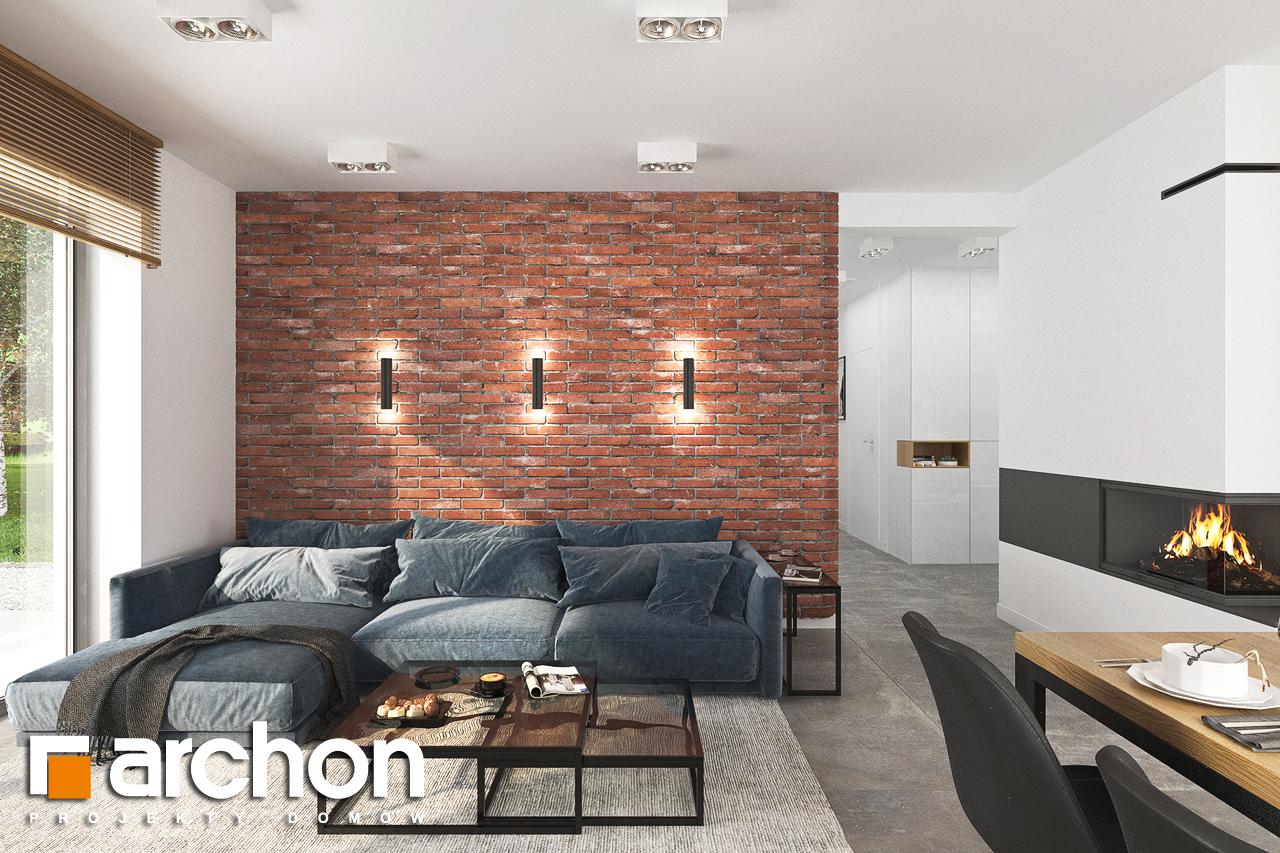 Проект будинку ARCHON+ Будинок в липниках денна зона (візуалізація 1 від 3)