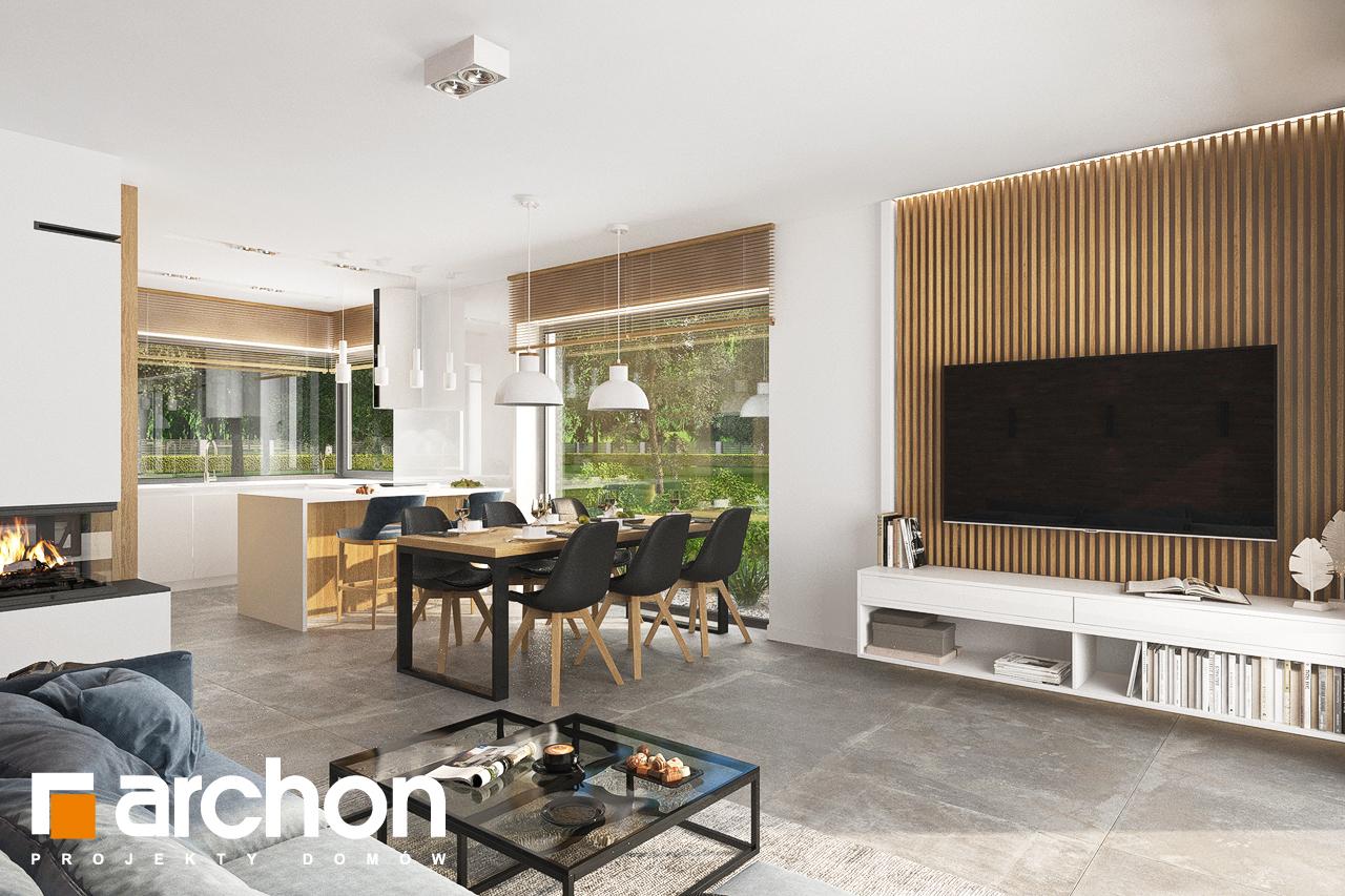 Проект будинку ARCHON+ Будинок в липниках денна зона (візуалізація 1 від 4)