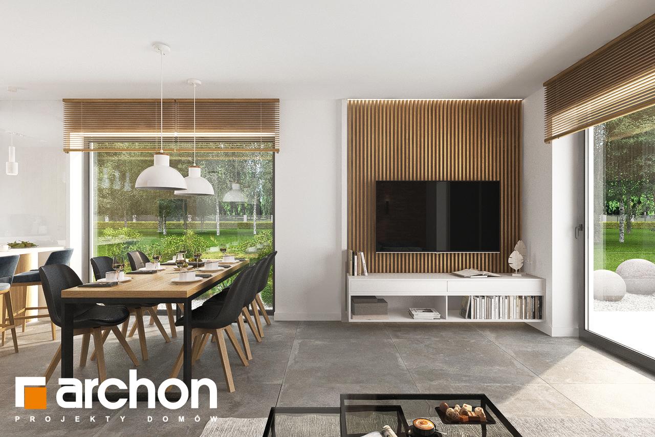 Проект будинку ARCHON+ Будинок в липниках денна зона (візуалізація 1 від 5)
