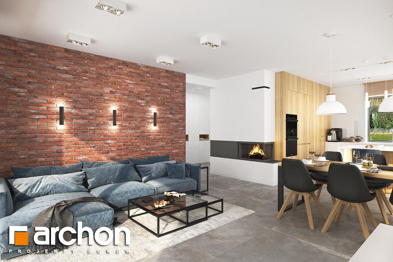 Проект будинку ARCHON+ Будинок в липниках денна зона (візуалізація 1 від 6)
