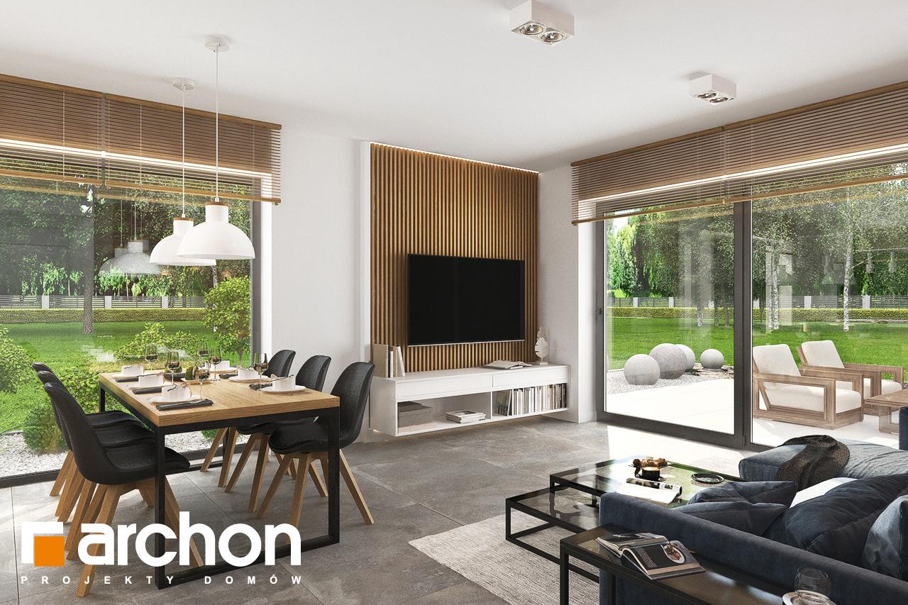 Проект будинку ARCHON+ Будинок в липниках денна зона (візуалізація 1 від 7)