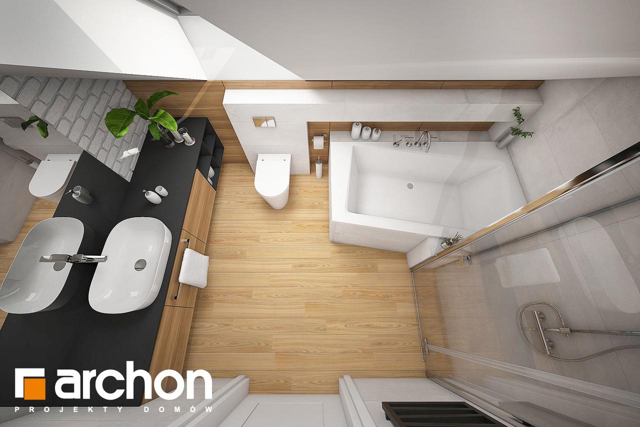 Проект будинку ARCHON+ Будинок в малинівці 5 візуалізація ванни (візуалізація 3 від 1)