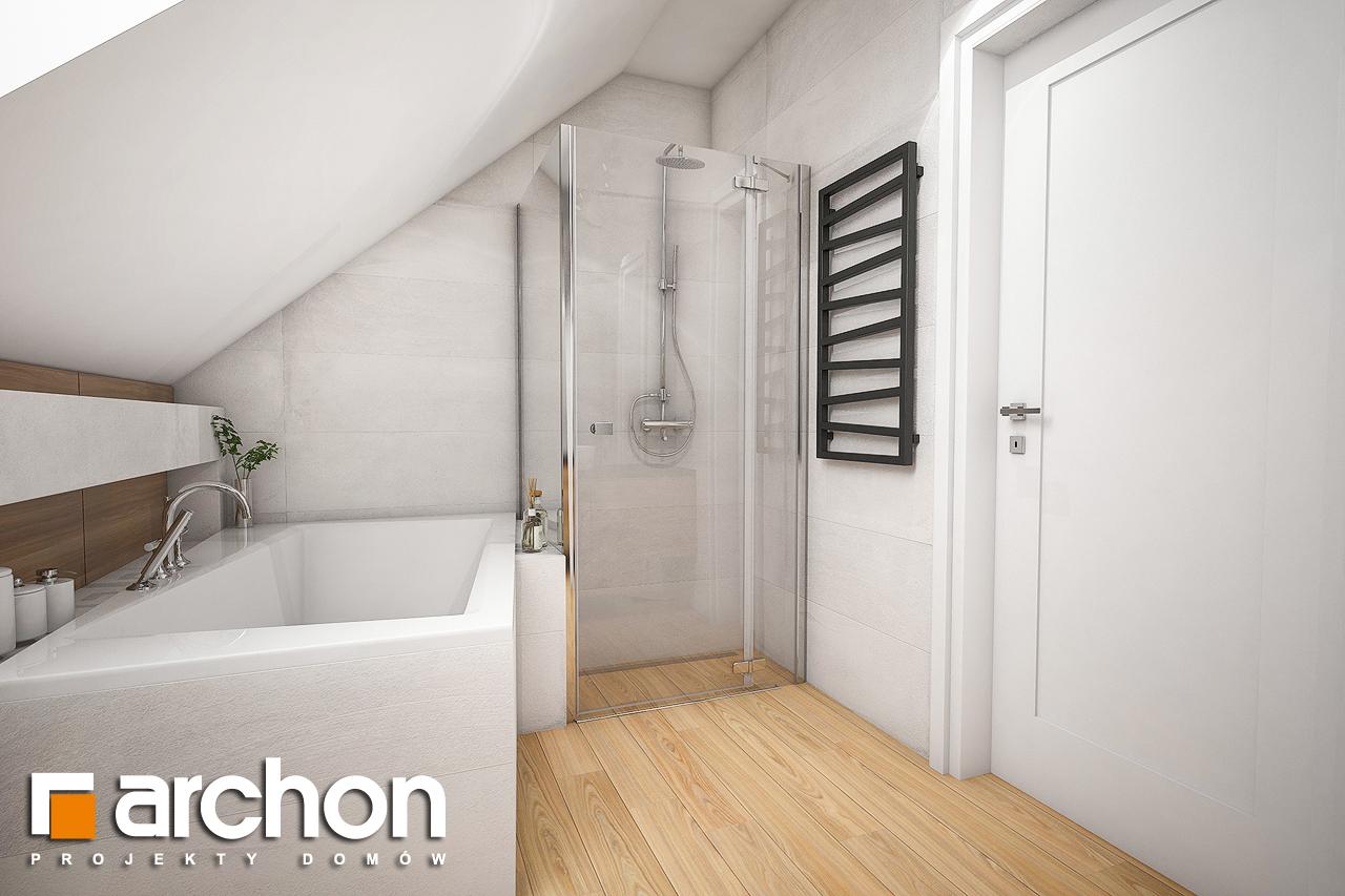 Проект будинку ARCHON+ Будинок в малинівці 5 візуалізація ванни (візуалізація 3 від 2)
