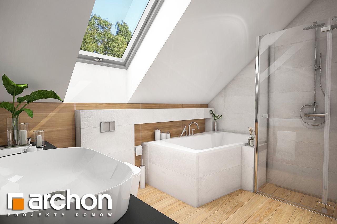 Проект будинку ARCHON+ Будинок в малинівці 5 візуалізація ванни (візуалізація 3 від 3)