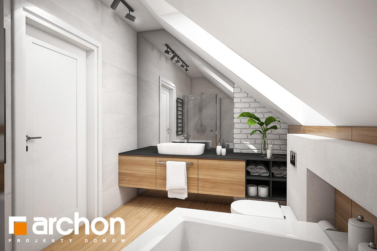 Проект будинку ARCHON+ Будинок в малинівці 5 візуалізація ванни (візуалізація 3 від 4)