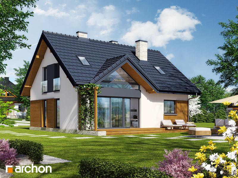 Проект будинку ARCHON+ Будинок в брусниці 3 ver.2 стилізація 3