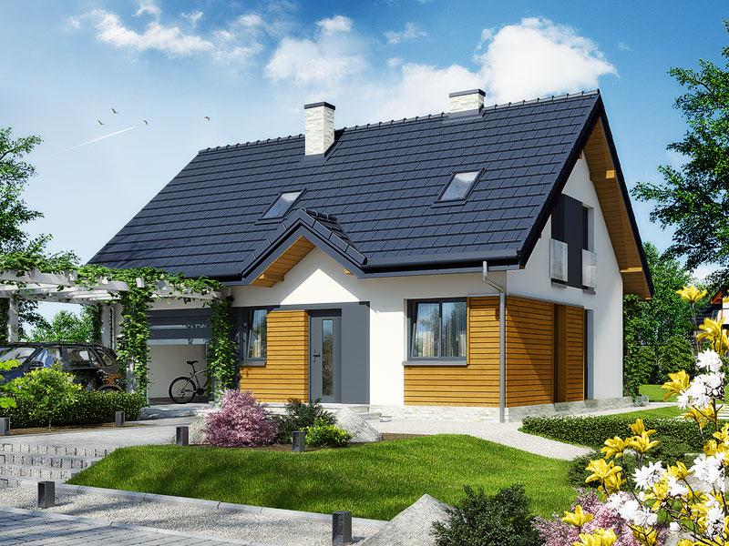 Проект будинку ARCHON+ Будинок в брусниці 3 ver.2 стилізація 4