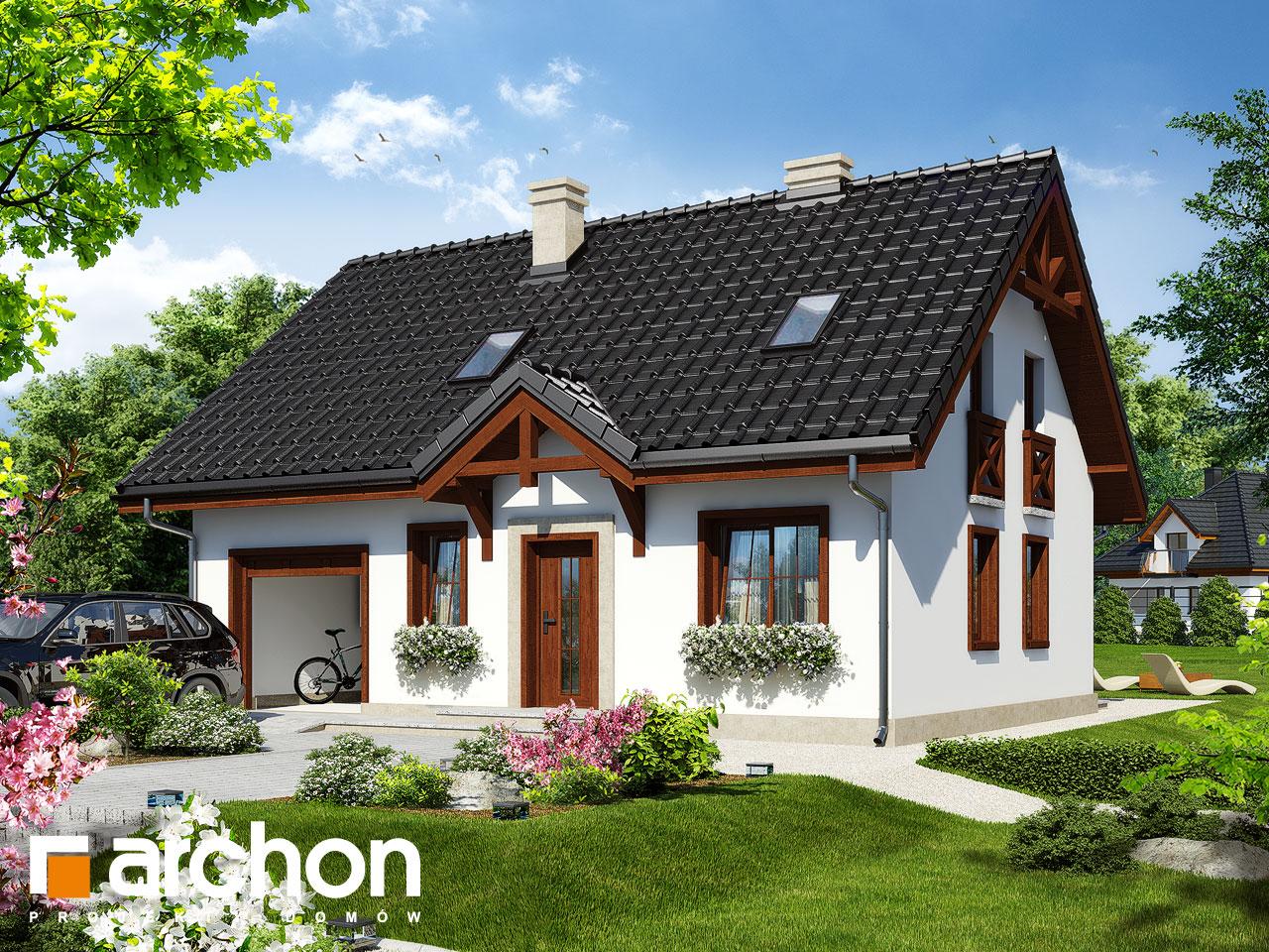 Проект будинку ARCHON+ Будинок в брусниці 3 ver.2 Вид 2
