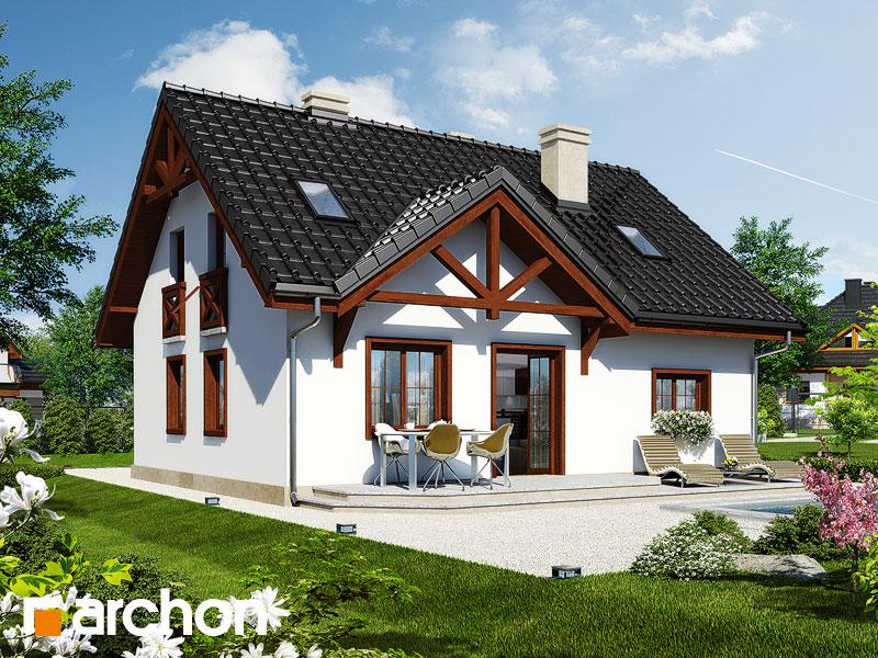 Проект будинку ARCHON+ Будинок в брусниці 3 вер.2 Вид 1