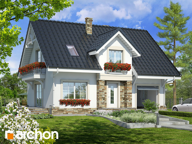 Проект будинку ARCHON+ Будинок в люцерні 2 Вид 1