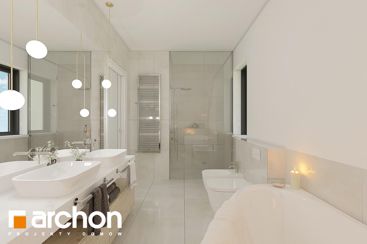 Проект будинку ARCHON+ Будинок в малинівці 11 візуалізація ванни (візуалізація 3 від 2)