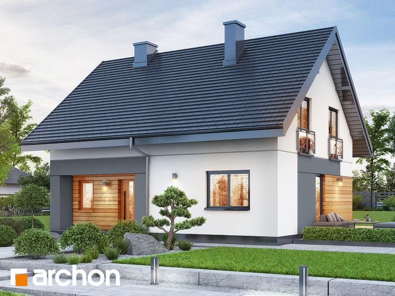 Проект будинку ARCHON+ Будинок в малинівці 11 Вид 1