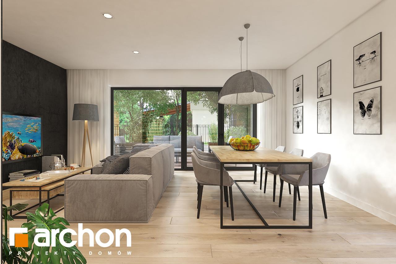 Проект будинку ARCHON+ Будинок в малинівці 11 денна зона (візуалізація 1 від 2)