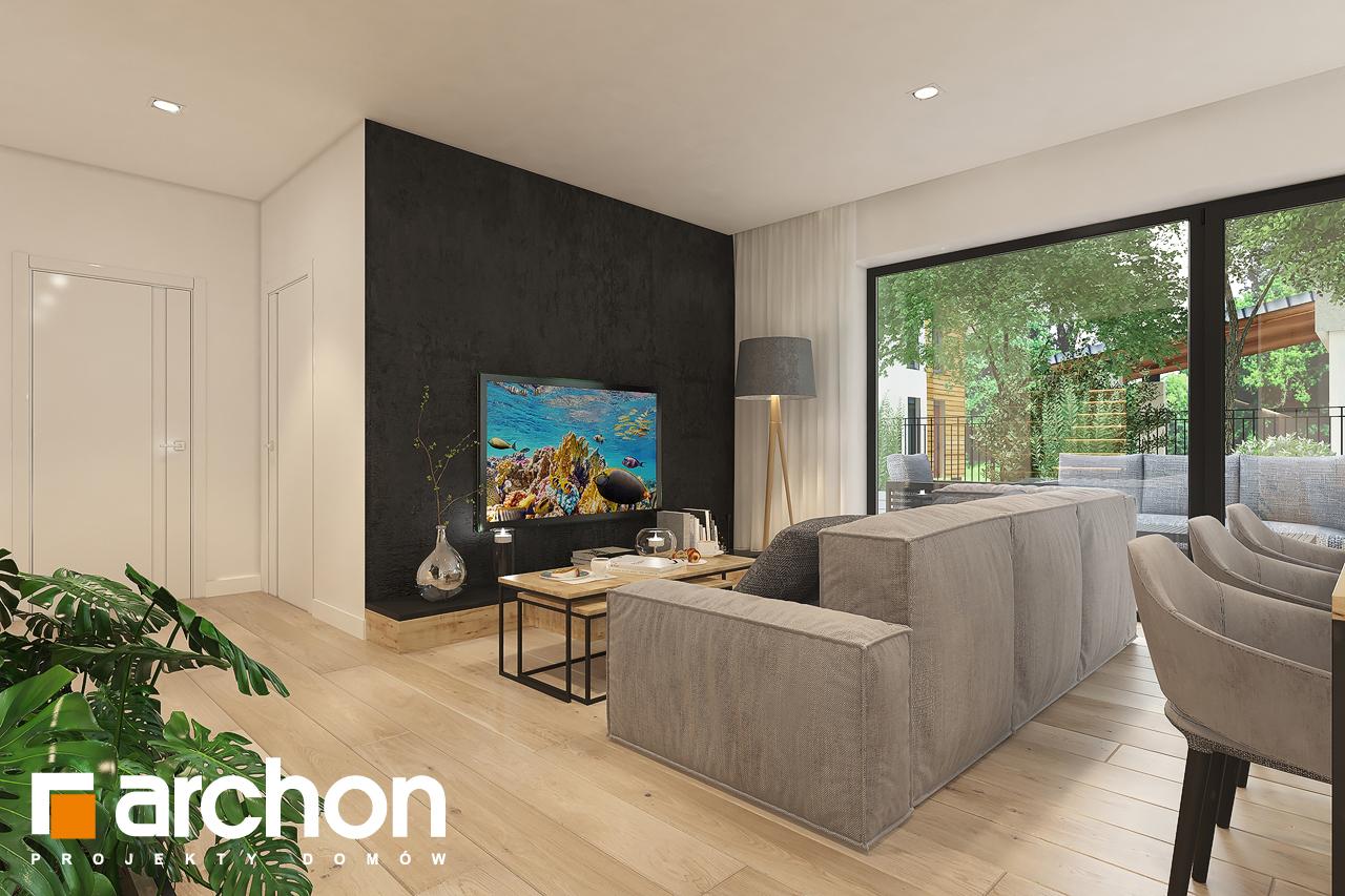 Проект будинку ARCHON+ Будинок в малинівці 11 денна зона (візуалізація 1 від 3)