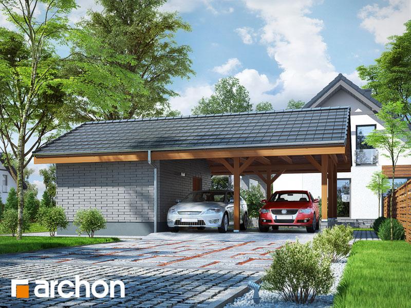 Проект будинку ARCHON+ Гаражний навіс (B3) стилізація 3
