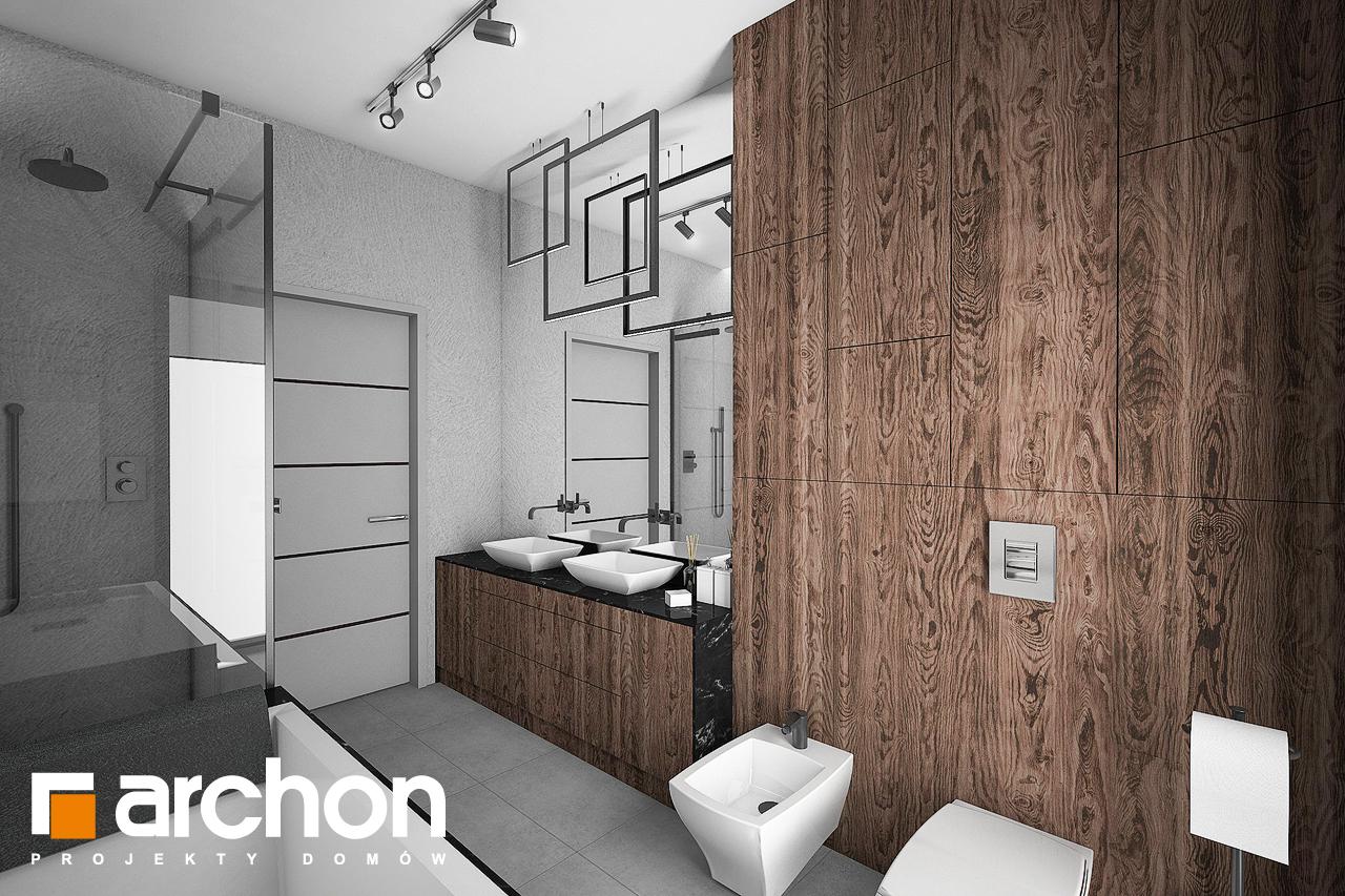 Проект будинку ARCHON+ Будинок в нігеллах 2 (Г2) візуалізація ванни (візуалізація 3 від 3)