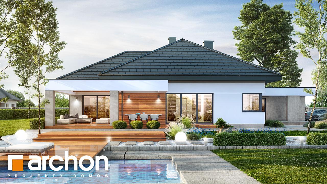 Проект будинку ARCHON+ Будинок в нігеллах 2 (Г2) Вид 2
