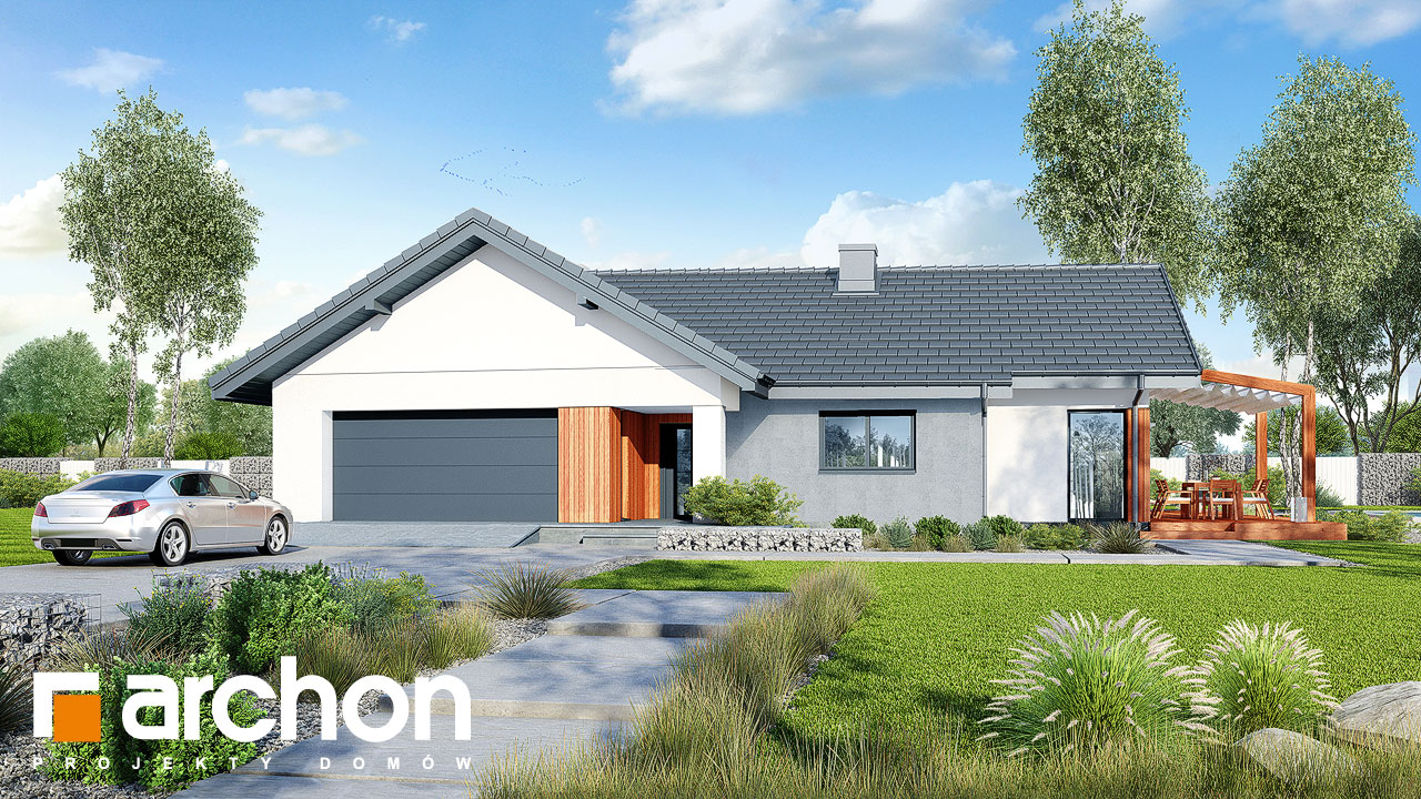 Проект будинку ARCHON+ Будинок в грандаросах (Г2) Вид 2
