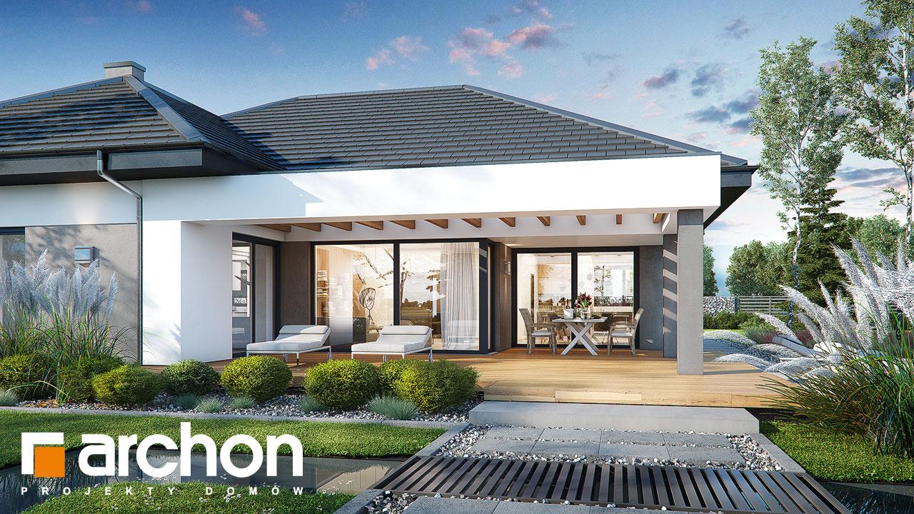 Проект будинку ARCHON+ Будинок в підсніжниках 4 (Г2) додаткова візуалізація