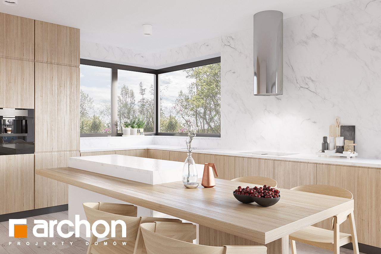 Проект будинку ARCHON+ Будинок в підсніжниках 4 (Г2) візуалізація кухні 1 від 2