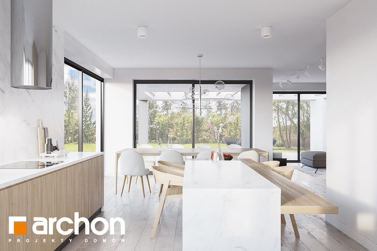 Проект будинку ARCHON+ Будинок в підсніжниках 4 (Г2) візуалізація кухні 1 від 3