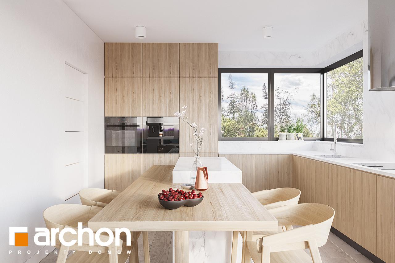Проект дома ARCHON+ Дом в подснежниках 4 (Г2) визуализация кухни 1 вид 1