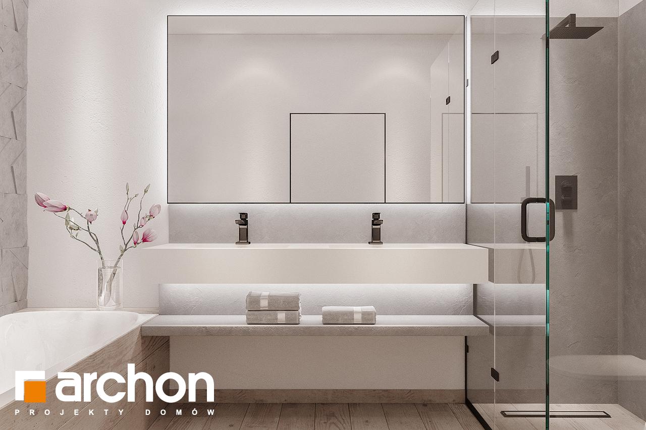 Проект будинку ARCHON+ Будинок в підсніжниках 4 (Г2) візуалізація ванни (візуалізація 3 від 1)