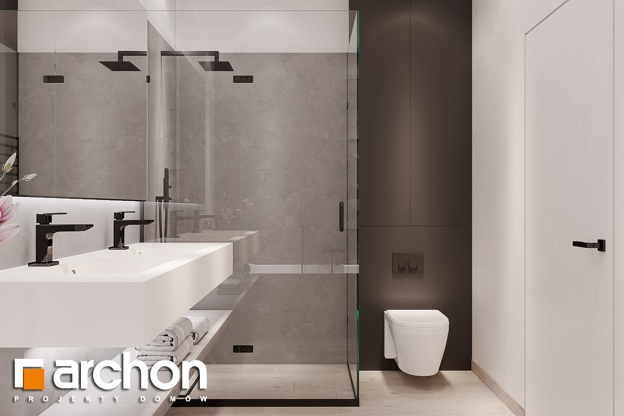 Проект дома ARCHON+ Дом в подснежниках 4 (Г2) визуализация ванной (визуализация 3 вид 3)