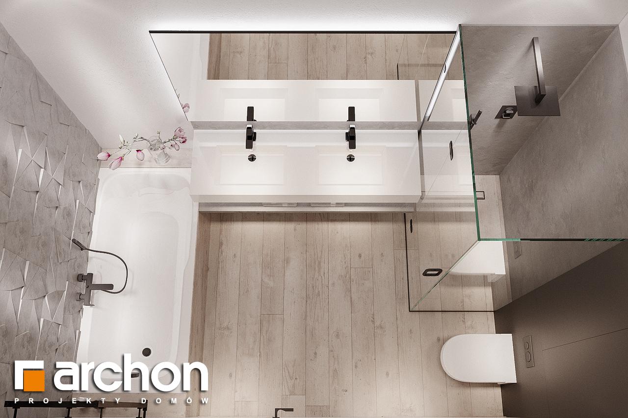 Проект дома ARCHON+ Дом в подснежниках 4 (Г2) визуализация ванной (визуализация 3 вид 4)