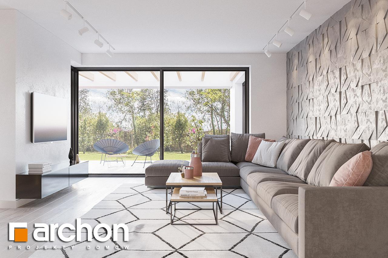 Проект будинку ARCHON+ Будинок в підсніжниках 4 (Г2) денна зона (візуалізація 1 від 1)