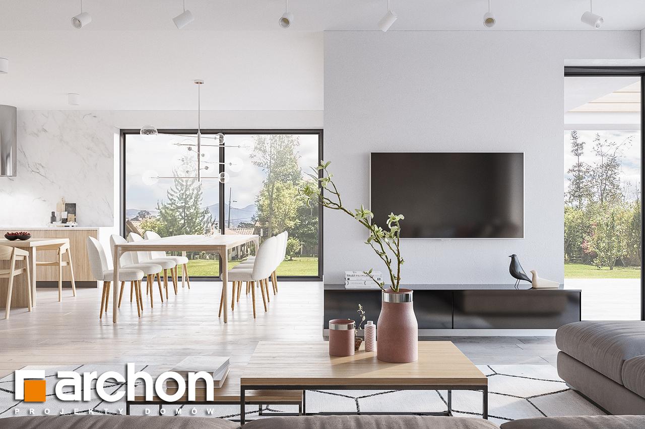 Проект дома ARCHON+ Дом в подснежниках 4 (Г2) дневная зона (визуализация 1 вид 2)