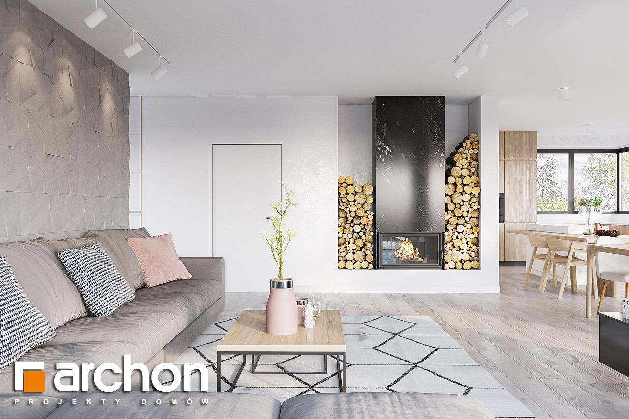 Проект дома ARCHON+ Дом в подснежниках 4 (Г2) дневная зона (визуализация 1 вид 4)