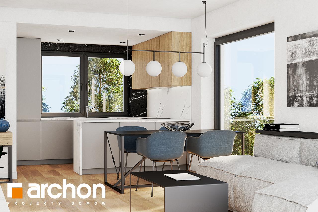 Проект будинку ARCHON+ Будинок в люцерні 8 візуалізація кухні 1 від 2
